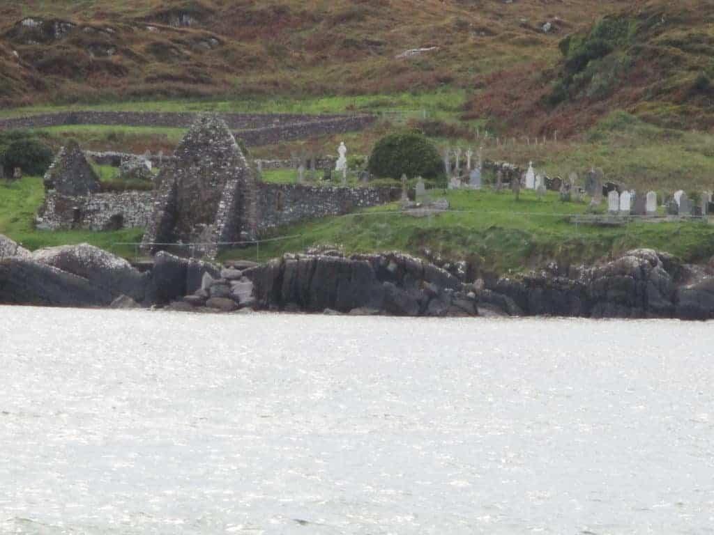 Derrynane Abbey on Abbey Island, Ireland