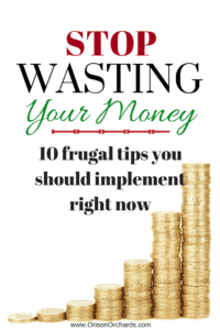 stop wasting money frugal tips budget financial