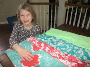 20 minute dress sewing: girl charlee floral knit fabric