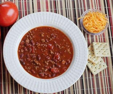 Chili Con Carne: less than 60 cents per serving