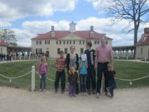 Mount Vernon; Washington DC; US History road trip for families with kids