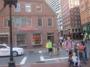 Boston Freedom Trail. American History tour road trip for families with kids