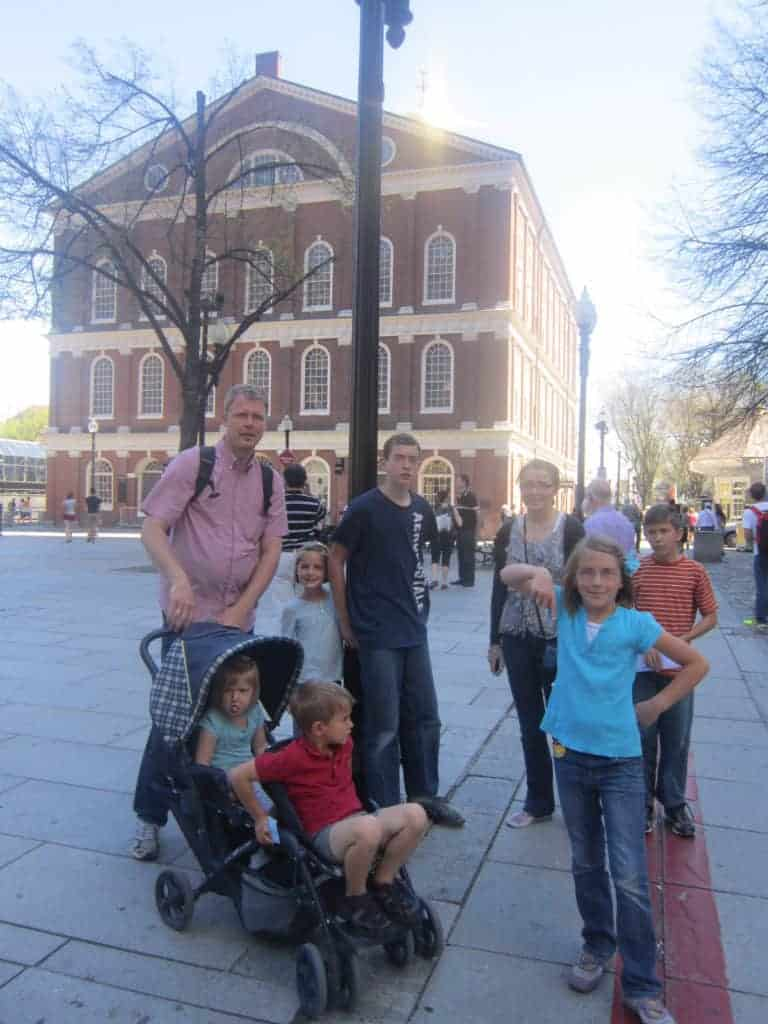 faneuil hall. Freedom Trail. American History tour road trip for families with kids.