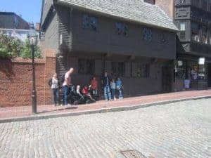 Paul Revere's House. Freedom Trail. American History tour road trip for families with kids.
