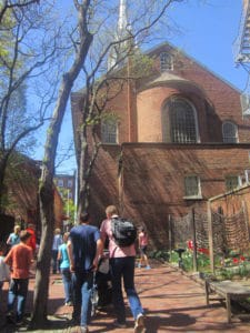 Old North Church. Freedom Trail. American History tour road trip for families with kids.