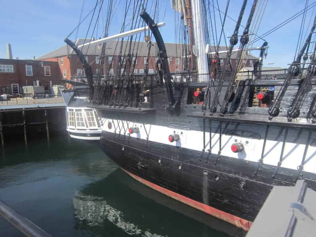 USS Constitution; Old Ironsides. Freedom Trail, Boston. American History tour road trip for families with kids