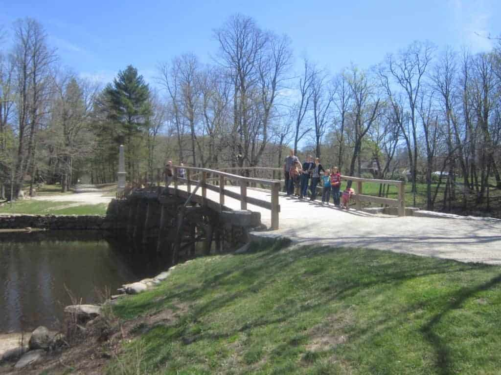 Old North Bridge; Concord, MA; American History tour roadtrip for families with kids