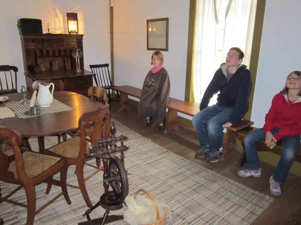 Newel K. Whitney store in Historic Kirtland; US History road trip tour for families with kids