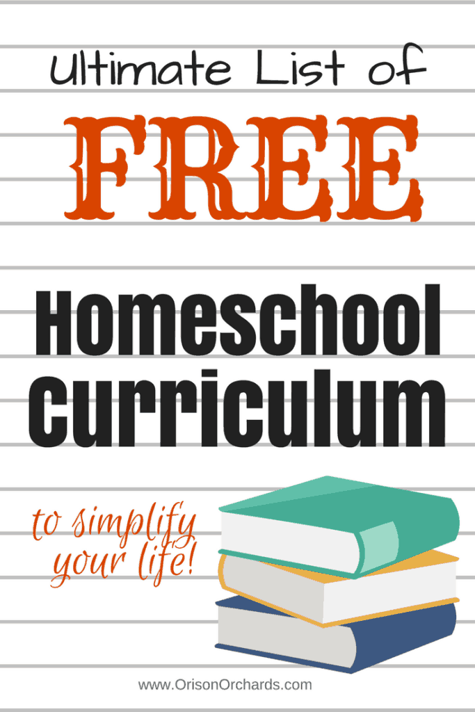 Ultimate List of Free Homeschool Curriculum | Orison Orchards