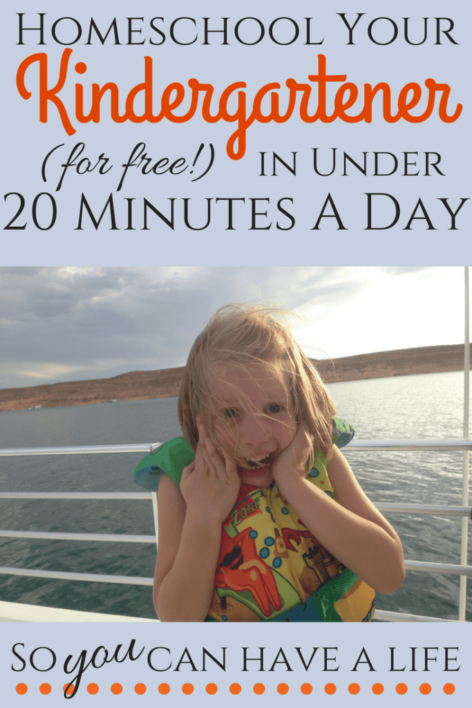 Homeschool Kindergarten (for free!) in just 20 minutes a day