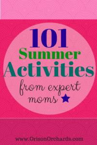 Fun CHEAP easy summer activities for kids