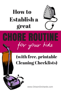 A great chore schedule for your kids will make life so much easier