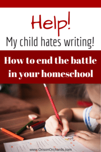 Does your child hate writing? End the writing battle in your homeschool by integrating it into other subjects.