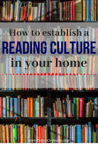 Establish a reading culture in your home