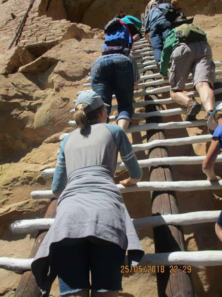Balcony House tour at Mesa Verde
