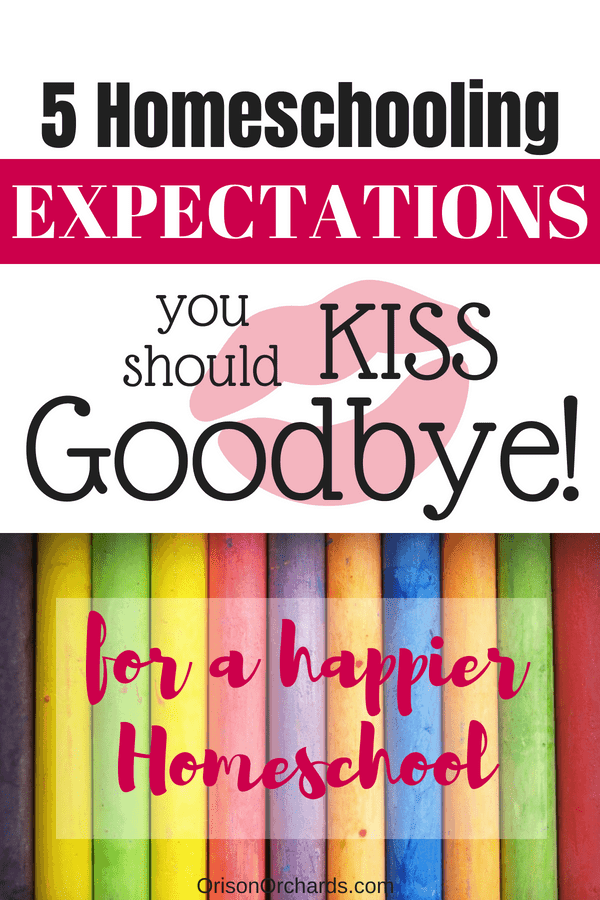 5 Homeschooling Expectations You Should Kiss Goodbye