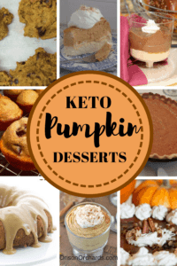 KETO pumpkin desserts; Low carb, gluten free and sugar free desserts for the ketogenic diet. Ketosis desserts