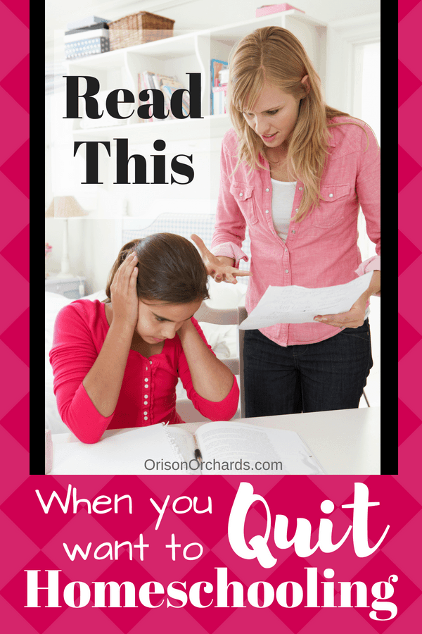 Read this when you want to quit homeschooling