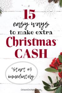 Make extra Christmas money
