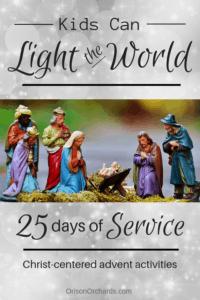 Family service project ideas for a service advent calendar