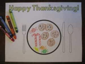 Thanksgiving Placemats for Preschoolers