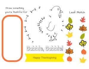 graphic relating to Printable Placemats for Preschoolers titled Printable Thanksgiving Placemats toward colour Orison Orchards