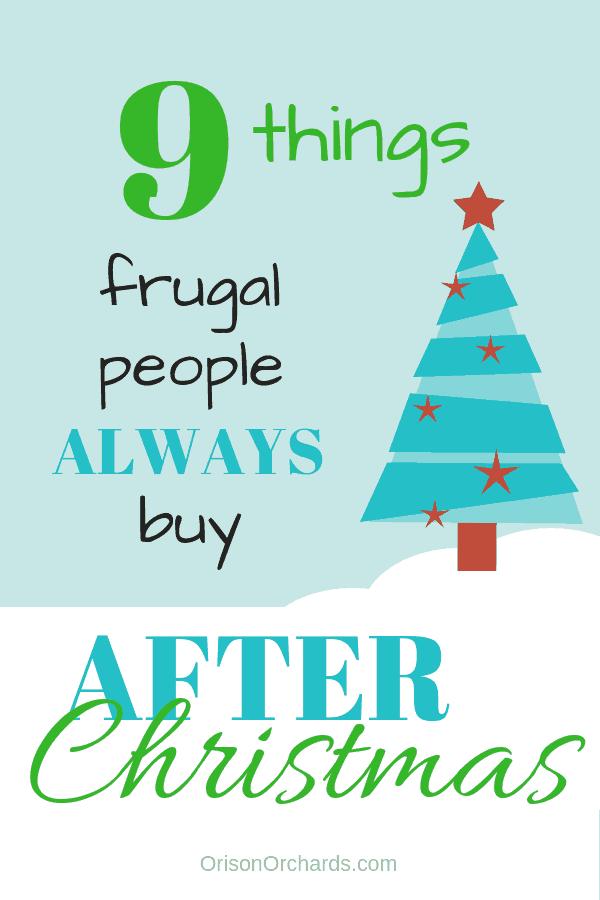 9 Things Frugal People Always Buy AFTER Christmas
