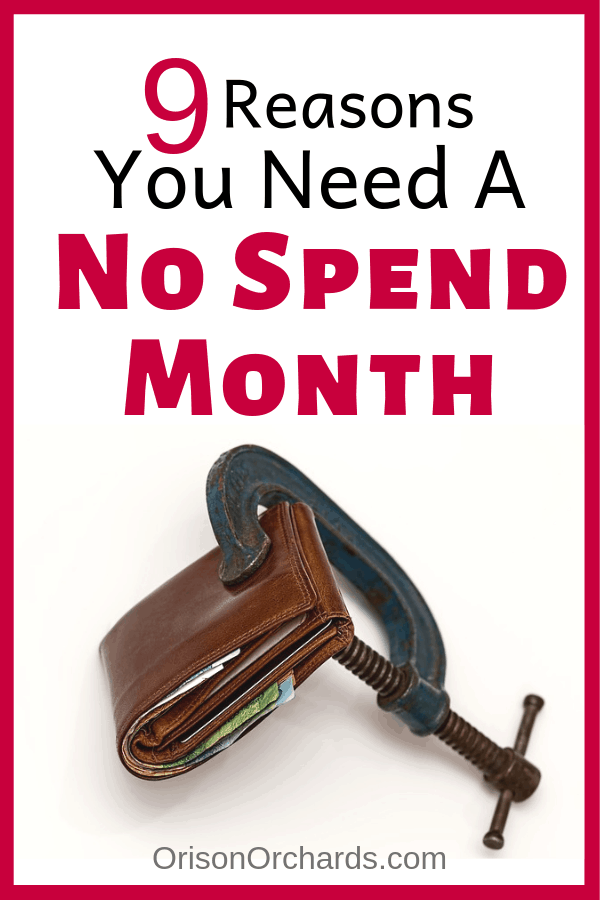 9 Reasons You Need a No Spend Month