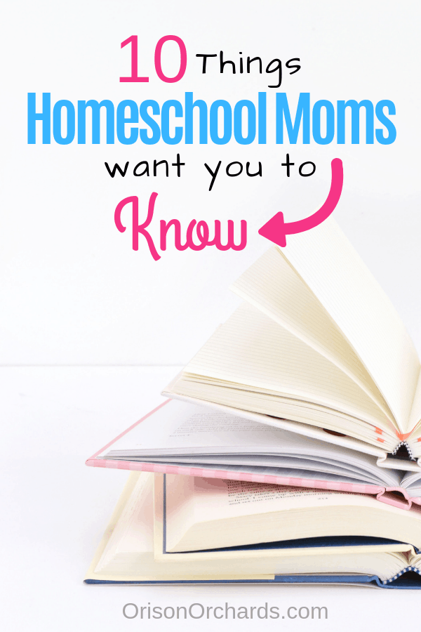 10 Things Homeschool Moms Want You to Know