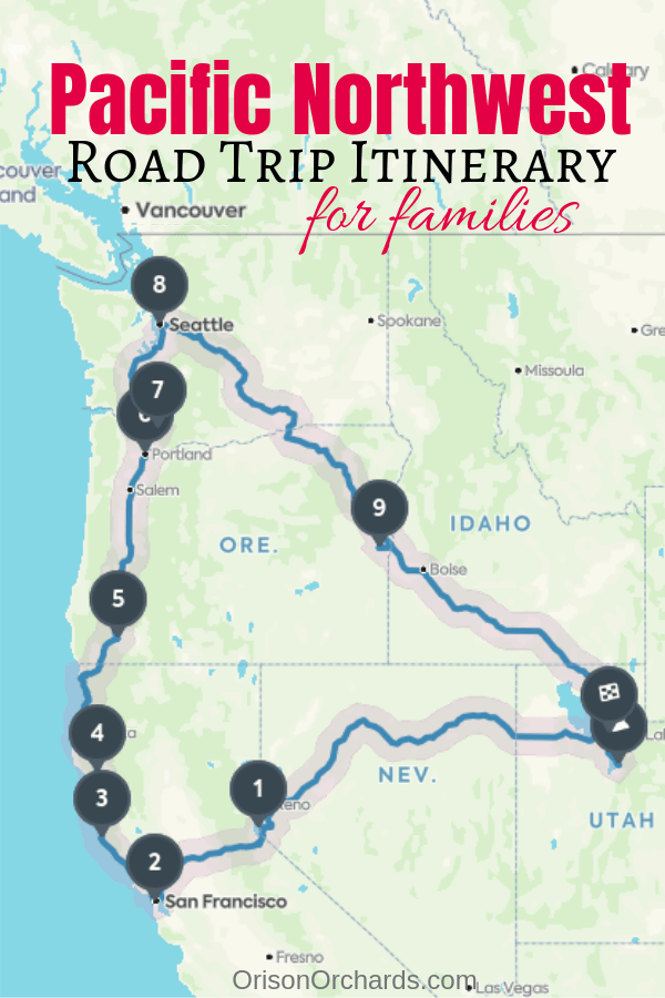 Pacific Northwest Road Trip Itinerary for Families