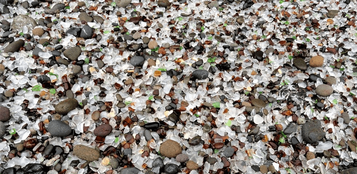 Glass Beach, Mendocino County, CA