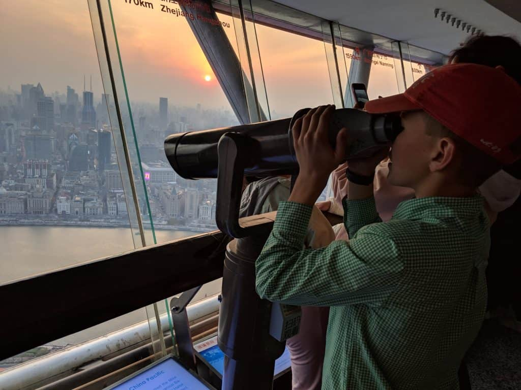 Oriental Pearl Tower Observation Deck; Shanghai Itinerary