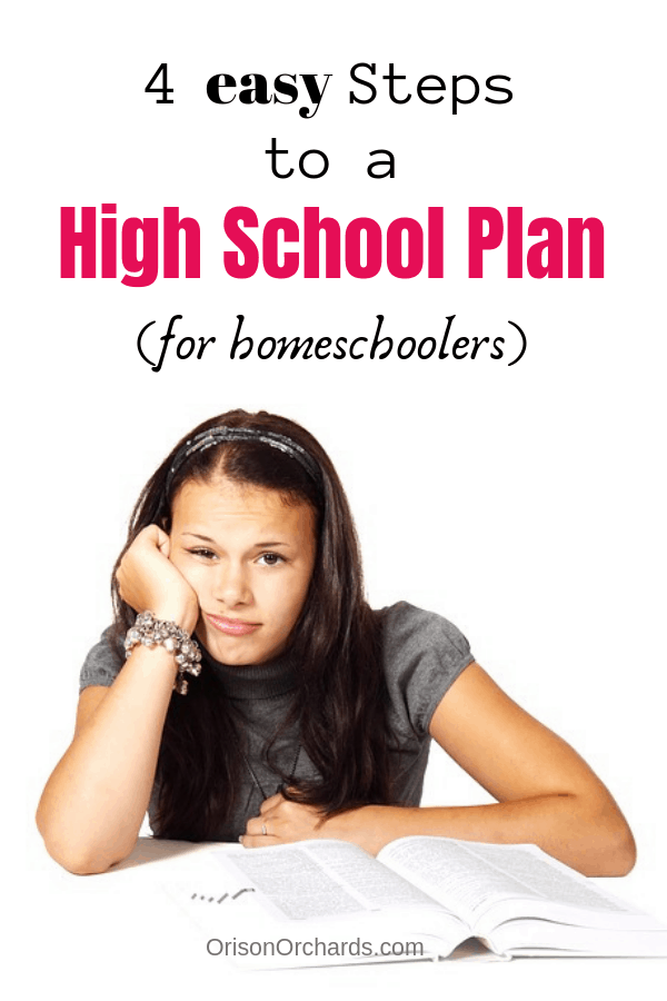 4 Easy Steps to a High School Plan for Homeschoolers