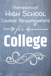 High School Course Requirements for College