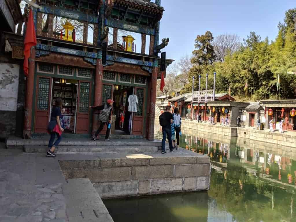 Suzhou Street at the Summer Palace in Beijing