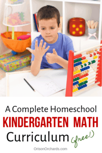 Homeschool Kindergarten Math