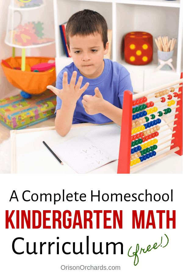 A Complete Homeschool Kindergarten Math Curriculum (FREE!)