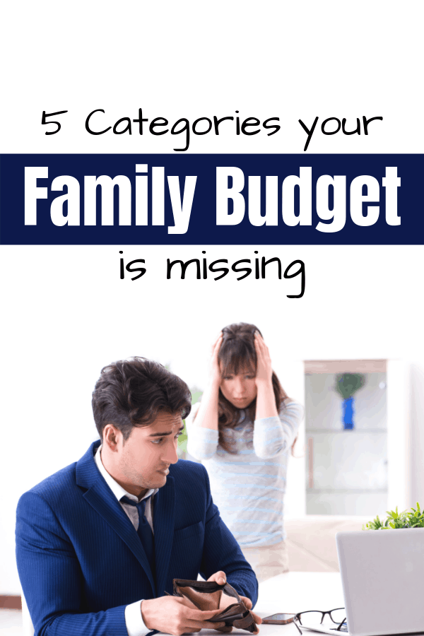 5 Categories Your Family Budget is Missing