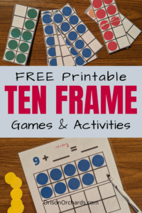 Free printable ten frames games and activities