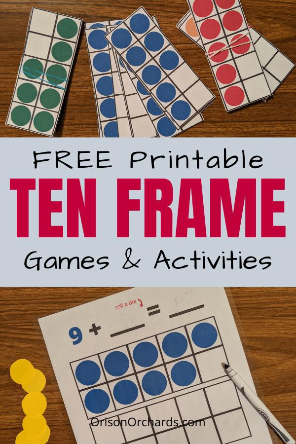 Free Printable Ten Frame & Games