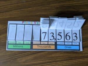 Printable Place Value Flip Chart