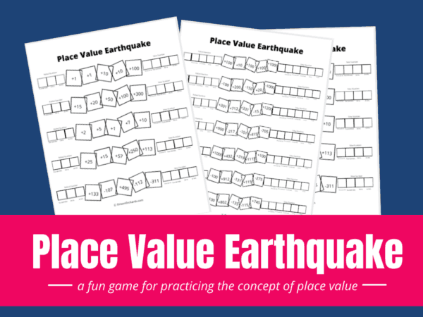 Place Value Earthquake Game
