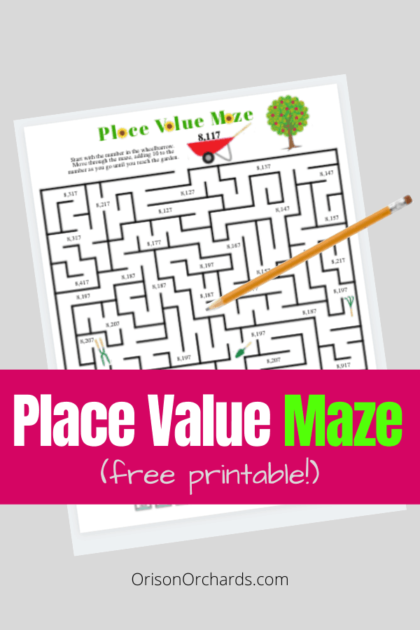 Place Value Maze (FREE printable!)