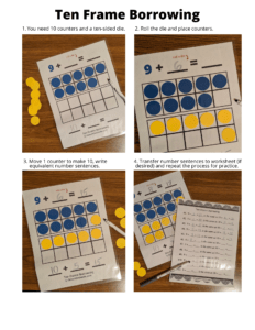 Ten frame printable games and activities