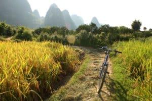 Yangshuo, China, cycling