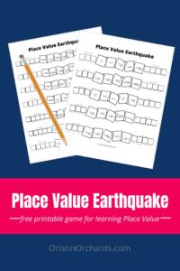 Place Value Earthquake