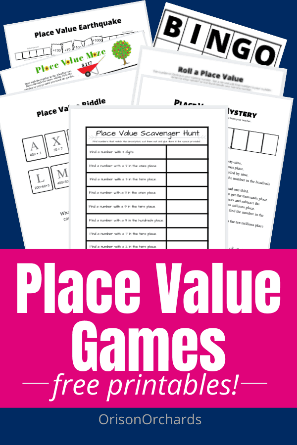 Place Value Games & Printable Charts (FREE!)