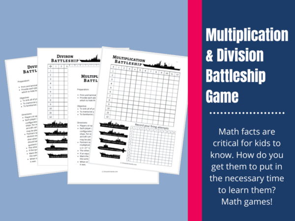 Multiplication Division Battleship math game