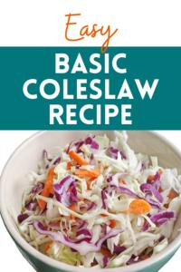 Basic Coleslaw Recipe