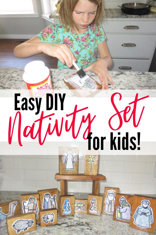 Easy DIY Nativity Set for Kids